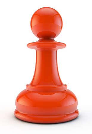 red pawn isolated on white background Stock Photo
