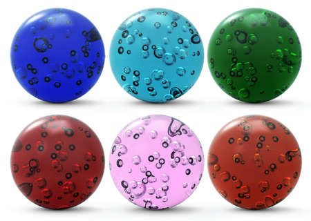 set of glass spheres (isolated)