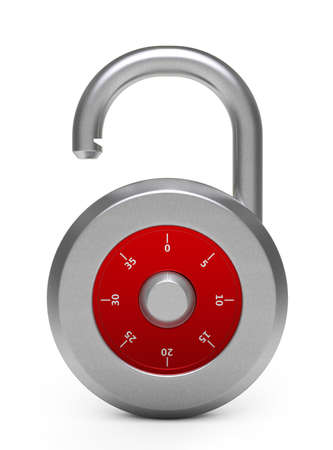 Illustration of opened lock over white background