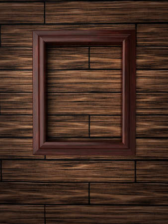 Wood frame on paneling Stock Photo - 12663884