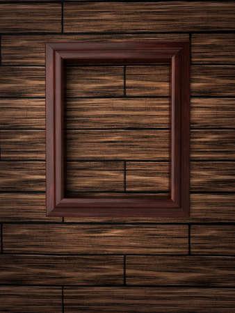 Wood frame on paneling Stock Photo - 12663884