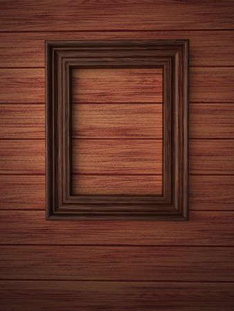 Wood frame on paneling Stock Photo - 12663881