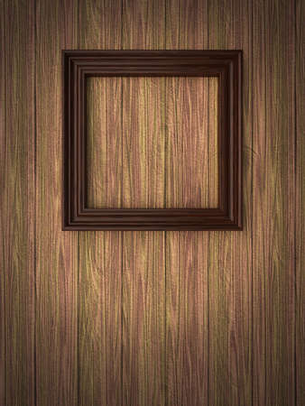 Wood frame on paneling Stock Photo - 12663883