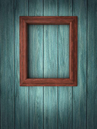 Wood frame on paneling Stock Photo - 12663882
