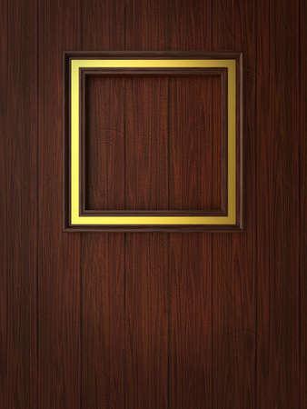 Wood frame on paneling Stock Photo - 12663880