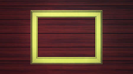 Gold frame on paneling Stock Photo - 12662794