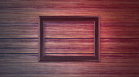 Wood frame on paneling Stock Photo - 12916692