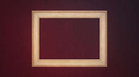 wooden background with a wood frame Stock Photo