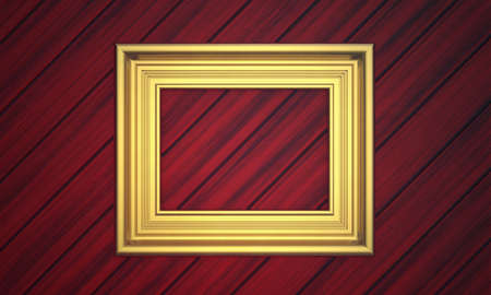 Golden frame on paneling photo