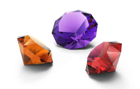 beautiful gems isolated Stock Photo
