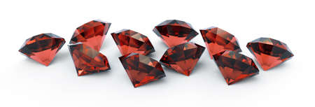 beautiful ruby gems isolated