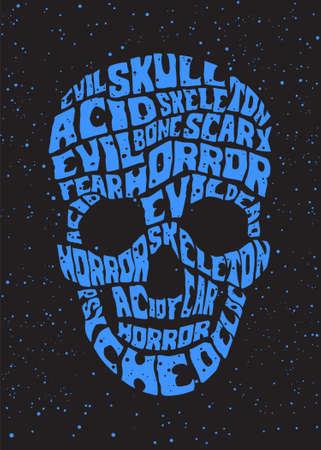 psychedelic skull Stock Vector - 14983465