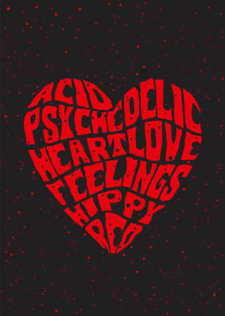 psychedelic heart Illustration