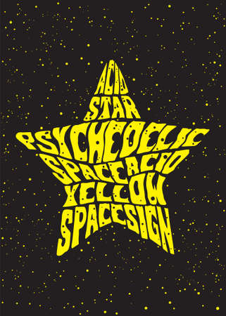 psychedelic star Illustration