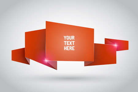 Origami ribbon with empty space for your text Vector