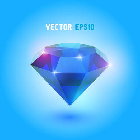 A beautiful saphire gem Vector