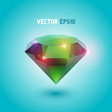 A beautiful emerald gem object  Illustration