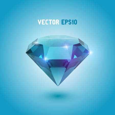 A beautiful aquamarine gem Vector