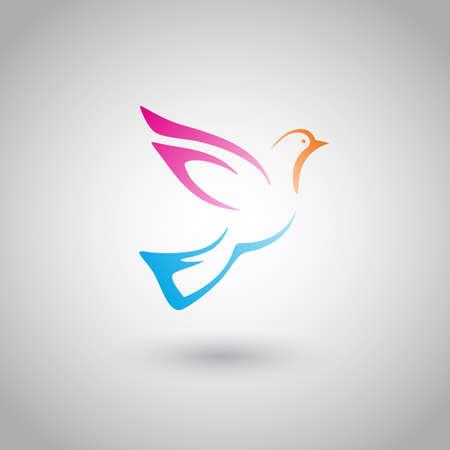 paloma de la paz: pájaro de vuelo