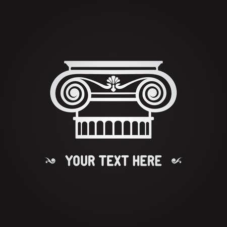 arte greca: Colonna ionica Vettoriali