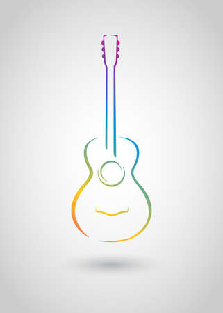 acoustic guitar   Stock Vector - 20352681