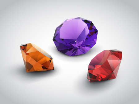 A beautiful gems objects  Illustration