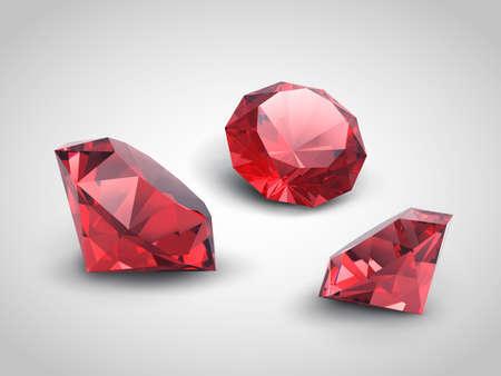 millonario: Una hermosa objetos rub� joyas Vectores