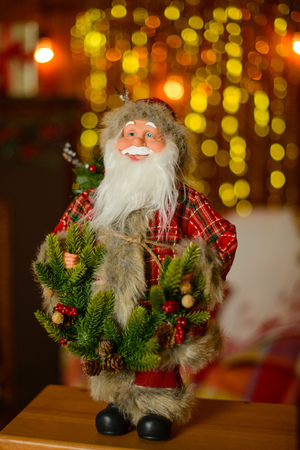 Christmas decoration and a fir-tree. It can be used as a background Stock Photo