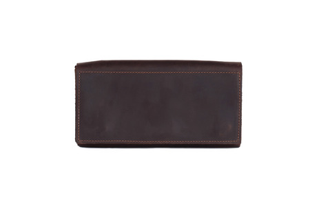 Leather wallet on a white background, isolated. It can be used as a background