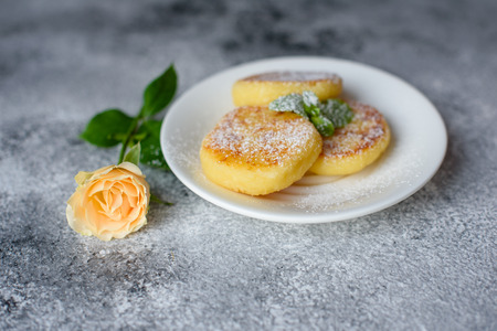 Tasty fresh cottage cheese pancakes