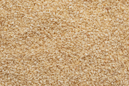 Sesame close up. Breakfast, healthy food. It can be used as a background