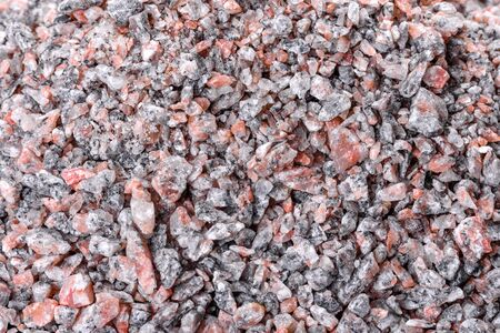 Crushed stone abstract textured background. Building material background Stock Photo