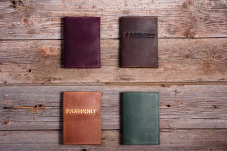 Leather cover for your passport, can use as background