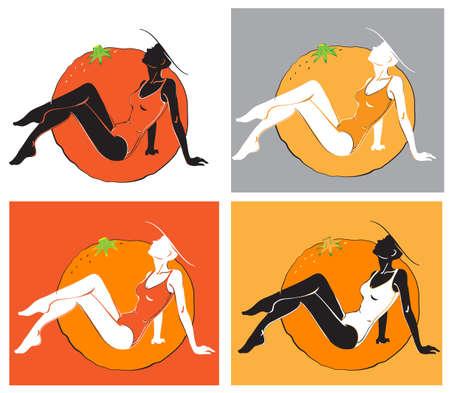 solarium: orange girls