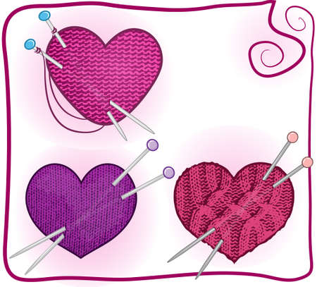 spokes: knitted heart