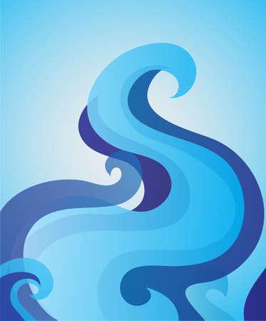 tide: marea azul Vectores