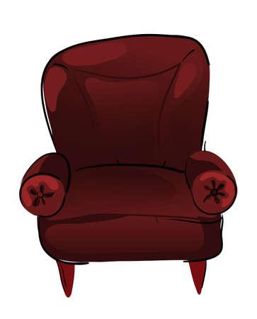 armrests: chair Illustration