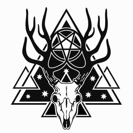 deer skull in triangular shape