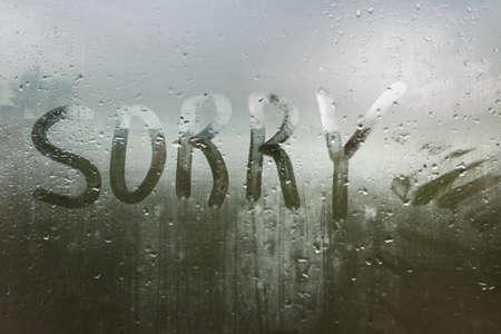 condensacion: Las gotas de lluvia sobre el vidrio. Dolor.