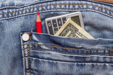 change purse: dollar jeans pencil