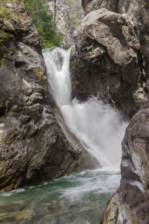 Waterfall on a mountain river.