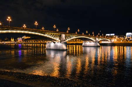 Margaret bridge. Budapest, Hungary 版權商用圖片