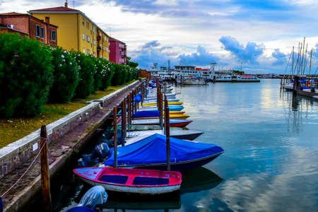 Boat station in Venice, Italy