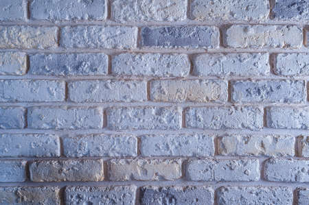 White brick dirty walls, grunge background, hyposural texture wall Imagens