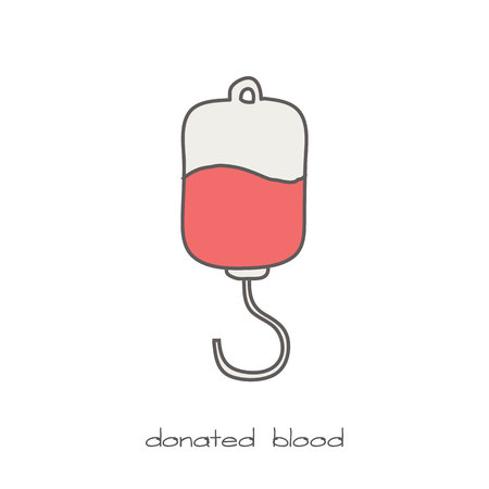 rh: donated blood Illustration
