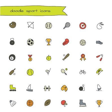 air sport: sport doodle icon Illustration