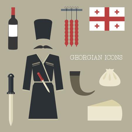 georgian: Georgian icons Illustration