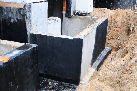 Waterproofing foundtion techniques for waterproofing basement and foundationation bitumen. Construcs