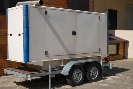 Mobile diesel generator for emergency electric power on the trailer.