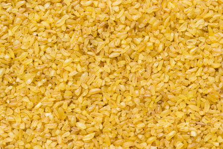 Dry bulgur wheat as a healthy food.